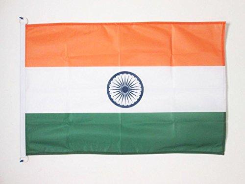 AZ FLAG Flagge Indien 150x90cm - INDISCHE Fahne 90 x 150 cm Aussenverwendung - flaggen Top Qualität