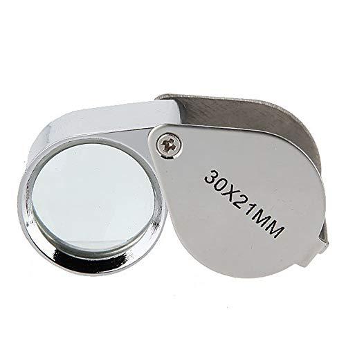 Baanuse Vergrößerungsglas für Juweliere, Faltbar Juwelier Uhr Lupe, 30x21mm