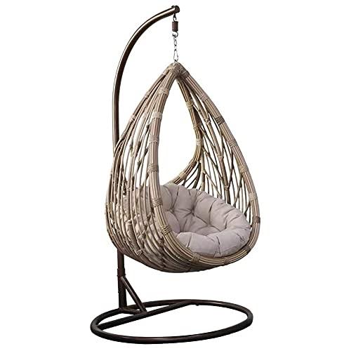 DFGH Silla Colgante de Polirratán - Swing Chair Sillón Colgante Hamaca Sillón de Descanso Muebles de Salón
