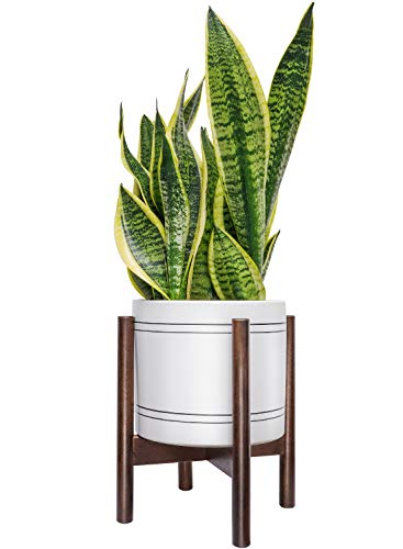 TIMEYARD Mid Century Plant Stand - Best Fits 8in Planter, Wood Indoor Flower Pot Holder, Simple Display Potted Rack, Modern Home Decor (Note: Plant Pot and Plant are not Included)