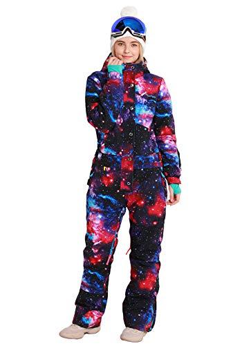 Bluemagic Womens Snowsuit One Pieces Ski Suits Jumpsuits Colorful Coveralls Snowboard Winter Outdoor (GLX 2020 ,XL)