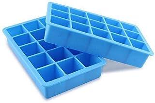 Ice CubeTray Food Grade Silicon Ice Box, Blue, 15 Grids
