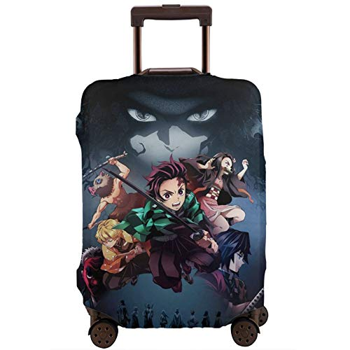 Anime Manga High Elasticity Fashion Travel Suitcase Covers Anti-Scratch Suitcase Protector Baggage Luggage With Zipper For Men Travel Apply To 18-32 Inch Luggage Small