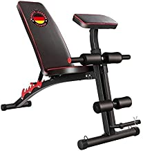 Marshal Fitness Multipurpose Sit Up Fitness Exercise Bench with Weight Preacher Armrest Curl Support-MFDS-S056