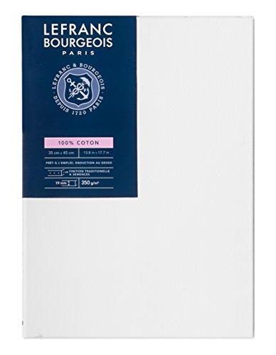 Lefranc Bourgeois - Marco de tela 100% algodón, 35 x 45 cm, grosor 1,9 cm