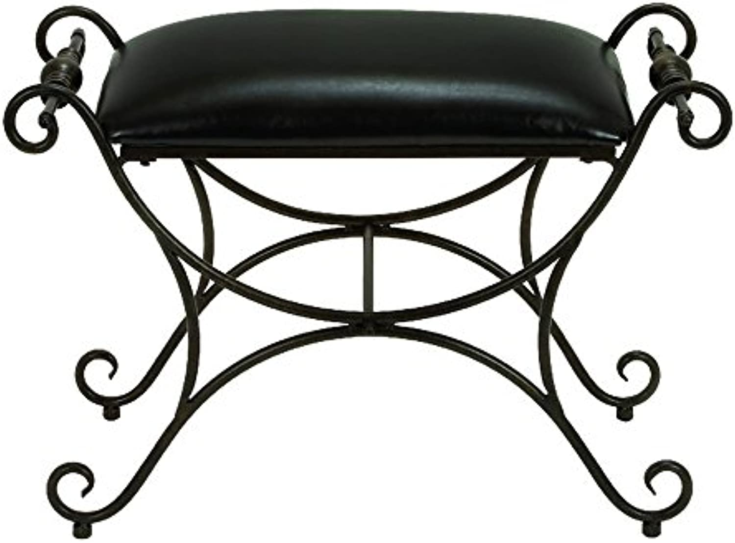 Deco 79 Metal Foot Stool, 31 by 21-Inch