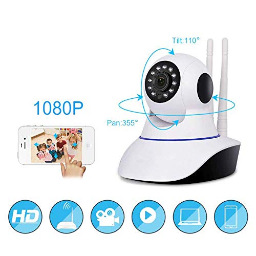 All Shop – Cámara IP HD 720P inalámbrica LED IR LAN motorizada WiFi Red Interna