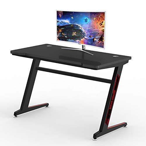 Huracan Mesa Gaming Diseñado para Jugadores con Gestión del Cableado Gran Escritorio 120 x 60 cm