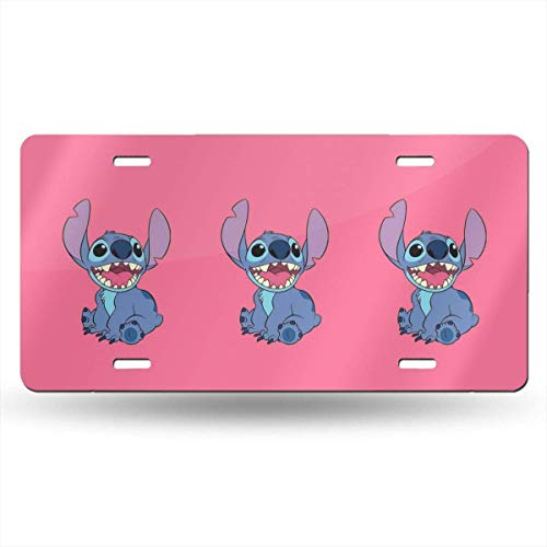 Suzanne Betty Aluminum License Plates - Happy Stitch License Plate Tag Car Accessories 12 X 6 Inches