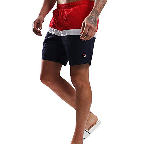 Fila Hombre Peter Color Block Swimshorts, Azul, S