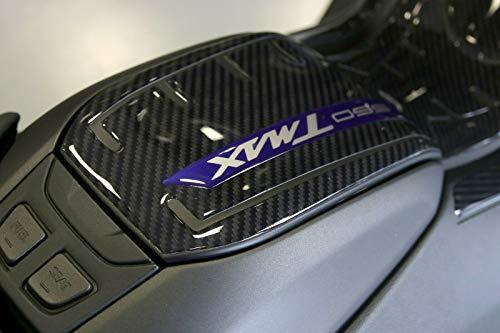 Adhésif Résine 3D Protection Portière Réservoir Compatible Yamaha Tmax 560 - Carbone Bleu Métal