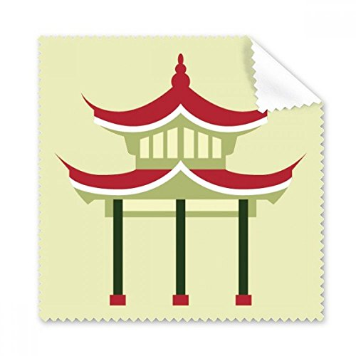 DIYthinker Paviljoen China Patroon Bril Doek Schoonmaken Doek Telefoon Screen Cleaner 5 Stks Gift