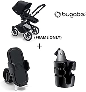 Bugaboo Buffalo Frame with Cup Holder and Phone Holder (Black)