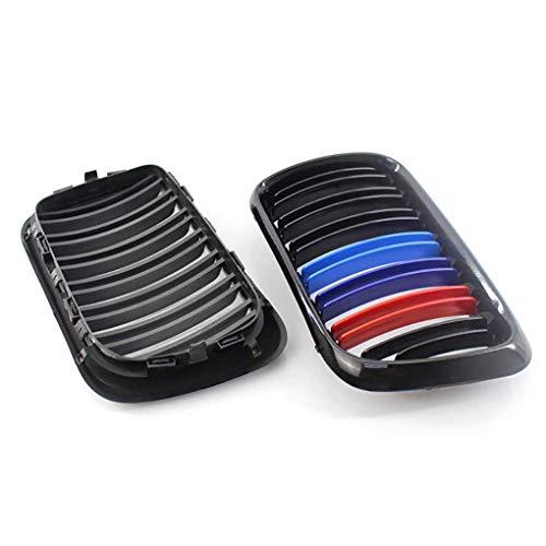 Fornateu 1 Paar Gloss Black Double Line M-Farbe Auto-Grill 51138195152/51138195151 replaement für E36 97-99