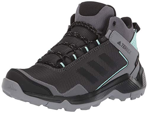 adidas outdoor Women's Terrex EASTRAIL MID GTX Hiking Boot, Grey Four/Black/Clear Mint, 9 M US