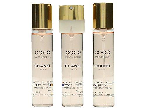 Chanel Coco Mademoiselle femme/woman, Eau de Toilette, 3 x 20 ml (3 Nachfüller), 1er Pack(1 x 1 Set)