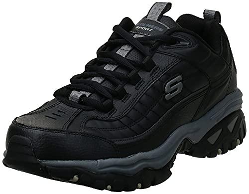 Skechers mens Energy Afterburn road running shoes, Black, 9.5 medium