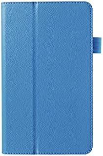 【PCATEC】 ASUS ZenPad 7.0 Z370C 7インチ タブレット専用ケース 二つ折 カバー 薄型 軽量型 スタンド機能 高品質PUレザーケース (シーブルー)