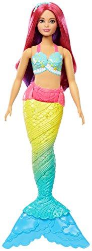 Barbie FJC93 Dreamtopia Regenbogen-Meerjungfrau (Pinke Haare)