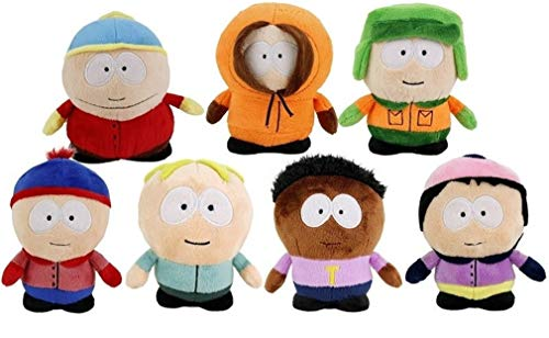 Dinotoys Komplet Set 7 Plüsch South Park 14cm - Kenny Kyle Eric Stan Leopold Wendy Token - Plush offiziell Comedy Central