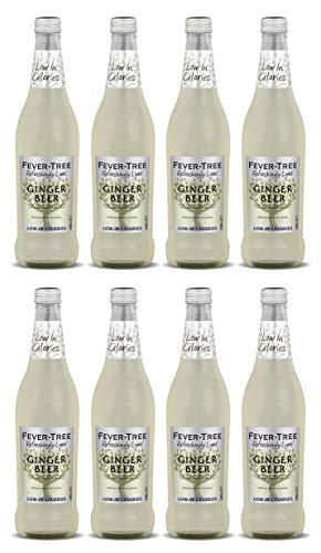 Fever-Tree Refreshingly Light Ginger Beer 8 x 500ml Bottles