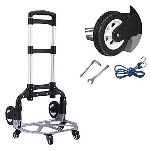 Klappwagen, tragbarer Hochleistungs-Allrad-Werkzeugwagen tragbar, geeignet für Gepäck, Personen-, Reise-, Auto-, Büro-Klappwagen, D.