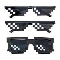 Hochwertige Materialien: Sonnenbrillen bestehen aus hochwertigem Kunststoff, sind leicht und sicher, ungiftig und geschmacklos, nicht leicht zu biegen und können lange verwendet werden. Interessantes Design: Mosaik-Sonnenbrillen sind weltweit beliebt...