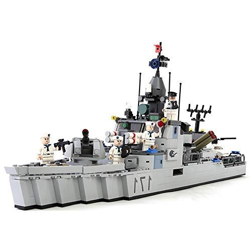 ELVVT 693PCS DIY Ladrillos Arma de proyectiles fragata Modelo Marítimo Militar Serie de Bloques de creación Modelo del Rompecabezas Ensamble Juguetes Montaje Regalo for el niño de Adultos (4 muñeca)