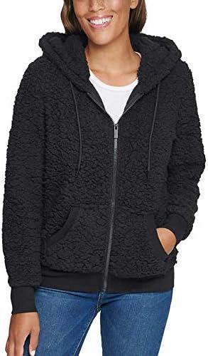 Marc New York Performance Women's Teddy Fleece Full Zip Hooded Jacket