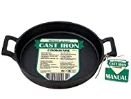 Heats evenly on hob & BBQ Natural finish will not flake or peel Hob, oven, grill, BBQ and campfire safe Not suitable for induction hobs Size(Length(with handles) x Width x Height): L-25cm x W-20cm x H-3cm