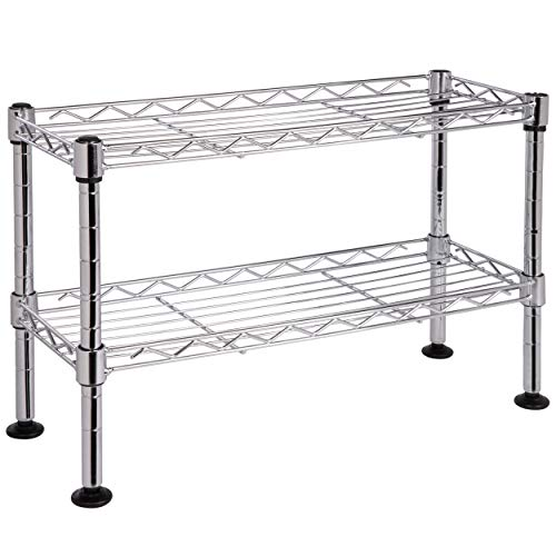 ONVAYA® Küchenregal stehend aus Metall | Silber | Schwarz | Küchen-Organizer Regal | Küchenregal für Arbeitsplatte (Silber Gewürzregal)