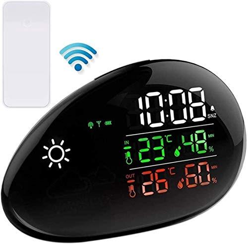 IG Weather Station Wireless Indoor Outdoor, Farbdisplay Digitales Wetter Mit Atomclock, Vorhersagestation Mit Einstellbarer Hintergrundbeleuchtung