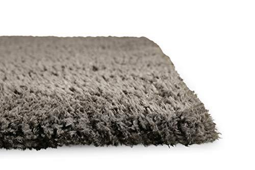 Homie Living I Hochflor Teppich I Parma I sehr flauschig und kuschelig I (Grau, 80 x 150 cm)