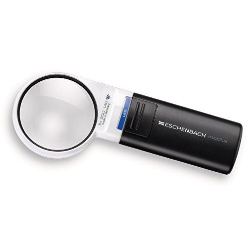 Eschenbach Optik Lupe Handlupe mit LED-Beleuchtung mobiluxLED Vergrößerung: 5x Linsengröße: (Ø) 58mm