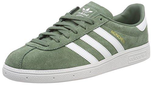Adidas Munchen, Zapatillas de Deporte para Hombre, Verde (Vertra/Ftwbla/Dormet 000), 41 1/3 EU