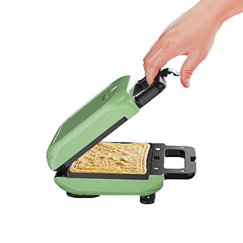 ZQWE Sandwichera/Parrilla, Sandwich Press, Placas Sandwich, Parrilla Eléctrica, Dimensiones Compactas, Placas Antiadherentes y Extraíbles (Green)