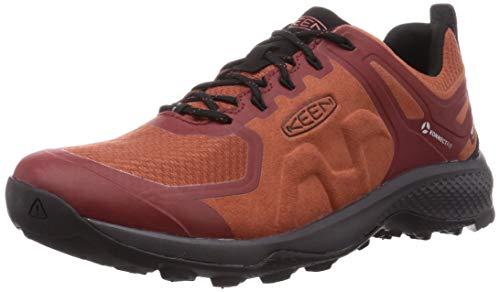 KEEN Men's Explore Waterproof Hiking Shoe, Picante/Fired Brick, 13