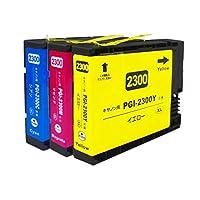 Siyisan for キャノン Canon 2300 PGI-2300 PGI-2300XL C/M/Y インク カートリッジ 顔料 増量 互換 シアン マゼンタ イェロー (3色セット) MAXIFY MB5430/MB5330/MB5130/MB5030/IB4130/IB4030 インクジェット プリンター