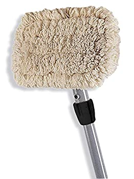 Rubbermaid Commercial 4 Piece Wall Washer Kit 60-inch Aluminum Handle Head and 2 Cotton Pads  FGS22600GY00