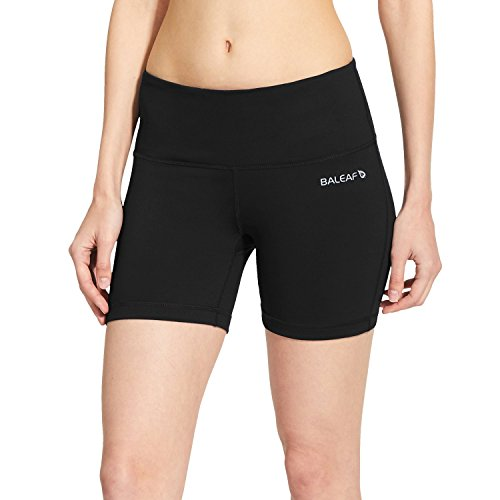 BALEAF Women's 5' Compression Shorts for Bike Volleyball Yoga Exercise Shorts...