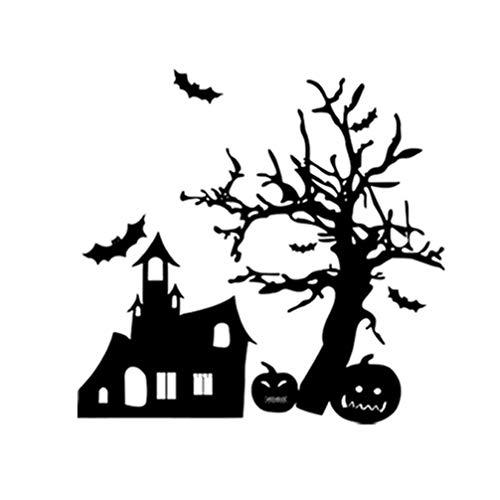 SUPVOX Silueta Pared calcomanía Halloween murciélago casa embrujada Calabaza Pared Pegatina DIY extraíble Mural calcomanías Suministros para Fiestas