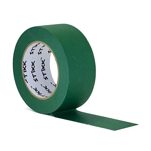 """2"""" inch x 60yd STIKK Forest Dark Green Painters Tape 14 Day Easy Removal Trim Edge Finishing Decorative Marking Masking Tape (1.88 in 48MM)"""