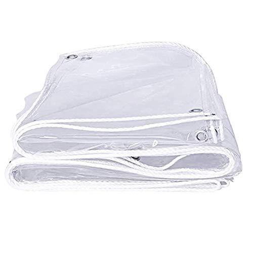 ZHAIHL Lona Transparente Impermeable, PVC Claro Tarea Pesada Hoja De Lona, Anti-envejecimiento con Cuerda De Nailon para Cámping Jardinería Invernadero Lona (Color : Clear, Size : 5x6m)