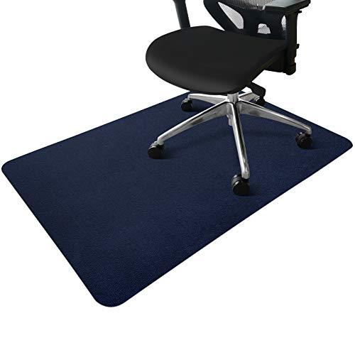 Office Chair Mat, Indoor Door Mat for Home, Desk Chair Mat for Hard Floor, 0.16' Thick / 55'x35' Multi-Purpose Low Pile Desk Mat for Hardwood Floor (Dark Blue)