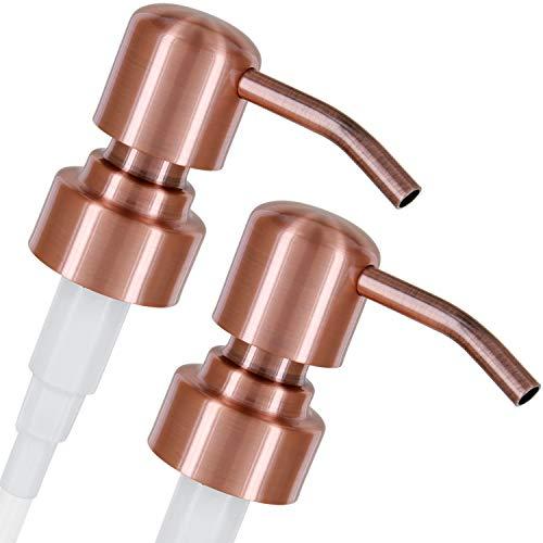 Altglas Dispensador de Jabón \'Zagreb\' - 2 Piezas de Bomba/Dosificador de Repuesto con Rosca de 28 mm en Acero Inoxidable