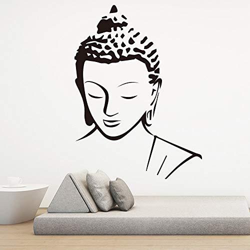 Buda Zen Sakyamuni estatua Bless you Art Decal Yoga studio dormitorio decoración del hogar arte extraíble vinilo trato Mural cartel sala de estar