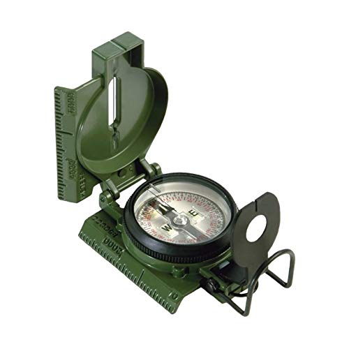 Cammenga Official US Military Tritium Lensatic Compass, Olive Drab Accurate Waterproof Hand Held Compasses with Pouch for Hiking Camping Navigation Survival Backpacking Orienteering