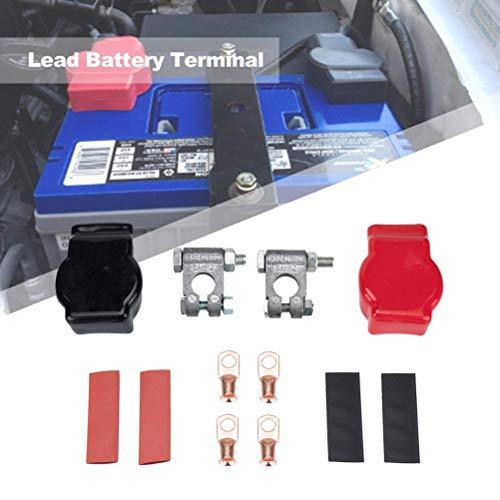 Rlevolexy Conector de batería de plomo puro para coche positivo y negativo para accesorios de coche, kit de limpieza