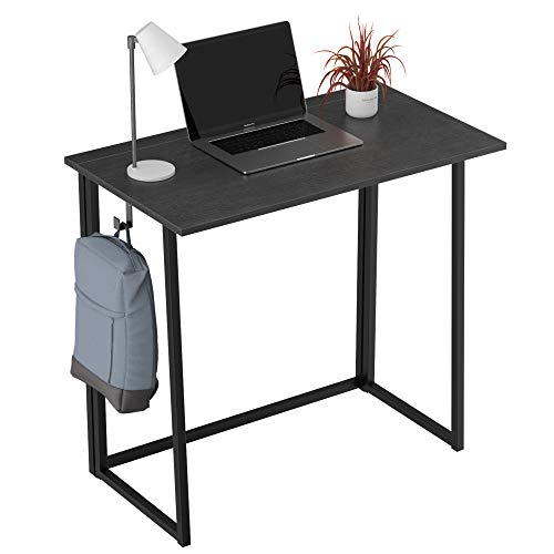 Folding Desk NoAssembly Small Computer Desk  Aludest 315quot Home Office Desk Foldable Table Study Writing Desk Workstation for Small Space Offices