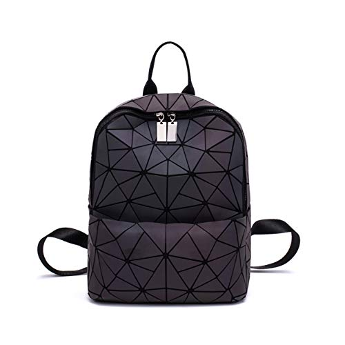 Frauen Geometrisch Leuchtend Rucksack Damen Fashion Taschen Lingge Flash Reise Schule College Rucksack 05L